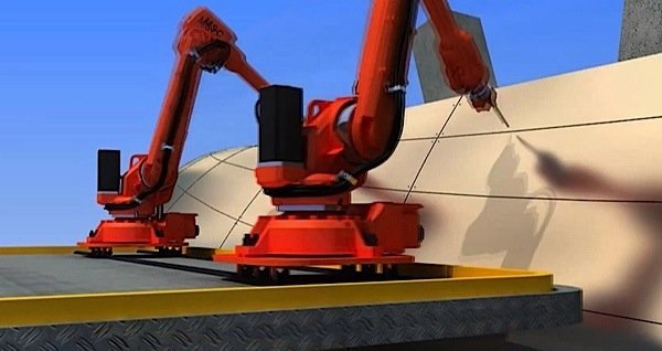 D Rendering Exhibition : Robots d printing to revolutionize building industry