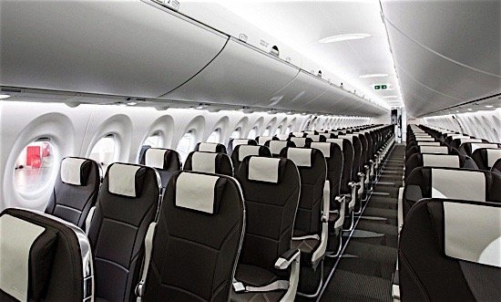 Swiss-Air-Bombardier-CSeries-CS100-interior-Farnborouhg-Air-Show-Quebec-aerospace-indusry-Canada-EDIWeekly